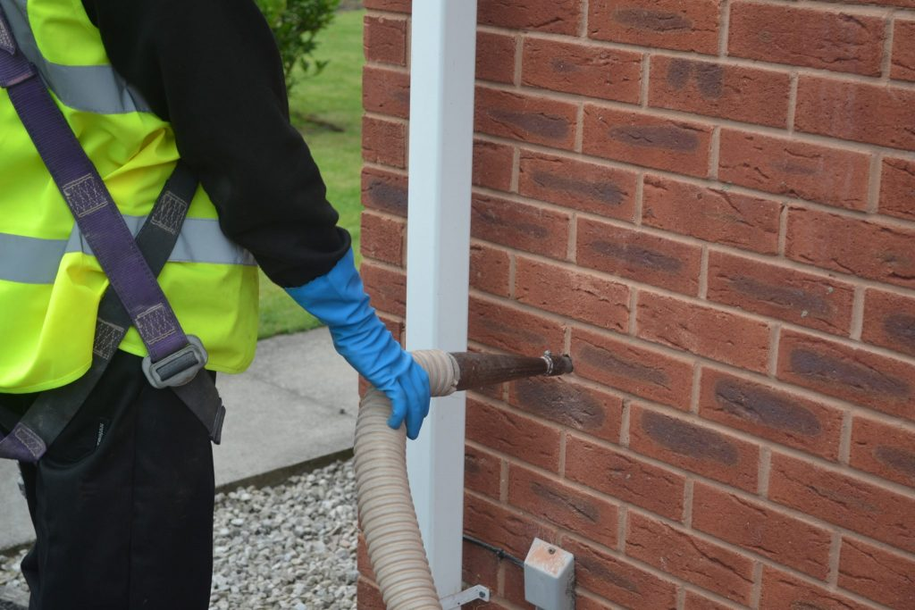 Cavity Wall Insulation Installation